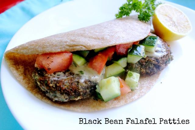 black beans, falafel, Israeli, vegan, vegetarian