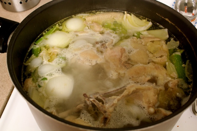 matzah ball, chicken, soup