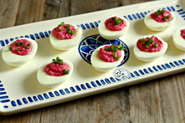 Red Horseradish Deviled Eggs and Red Horseradish German Potato Salad ...