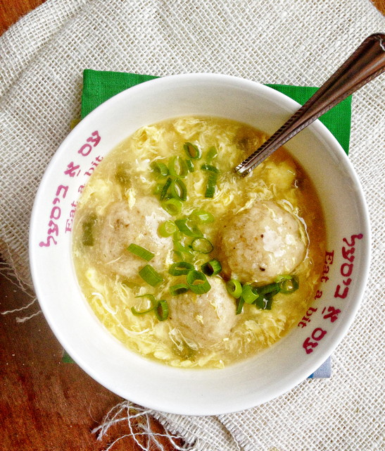 Egg Drop Matzo Ball Soup