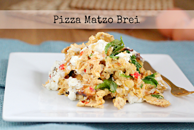 Pizza Matzo Brei #sharesabra
