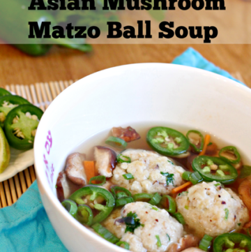 Asian Mushroom Matzah Ball Soup