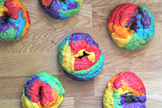 Rainbow Bagels