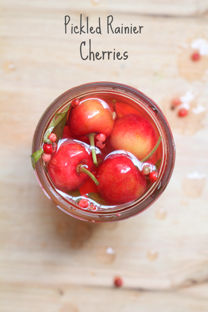 Pickled Rainier Cherries