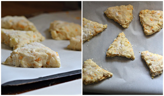 Apple and Cheddar Scones with Honey Glaze