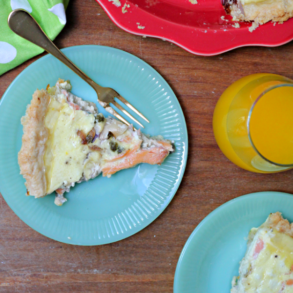 Smoked Salmon and Goat Cheese Quiche