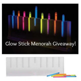 Glow Stick Menorah