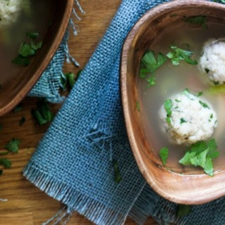 Matzah Ball and Chicken Soup