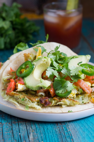 Avocado Latkes Breakfast Tacos