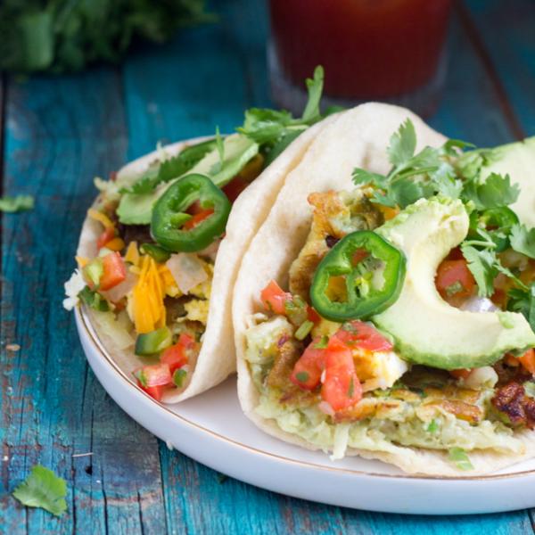 Avocado Latkes Breakfast Tacos