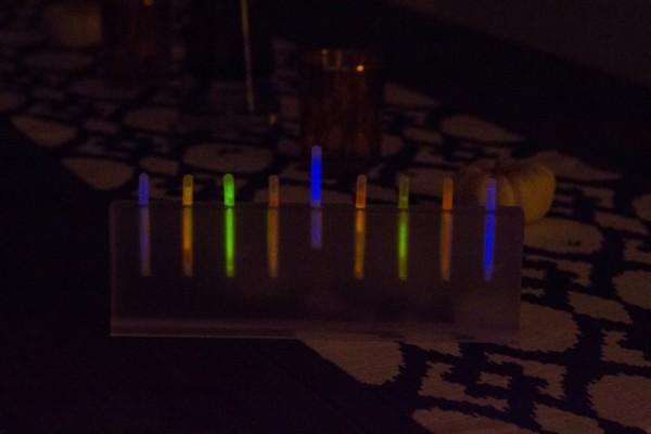 Glow Stick Menorah