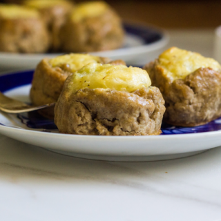 Pumpkin Spice Mashed Potato Knishes with Cranberry Mustard Sauce