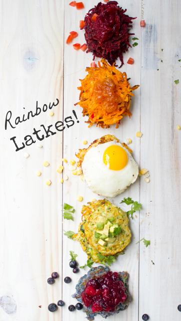 Rainbow Latkes