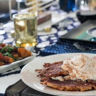 Mexican Chocolate Latkes with Cinnamon Whipped Cream and Wayfair Hanukkah!