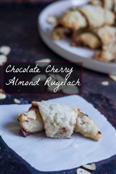 Chocolate Cherry Almond Rugelach