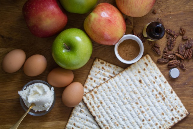 Cinnamon Apple Matzah Brei