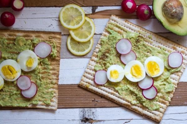 Avocado Matzah Toast