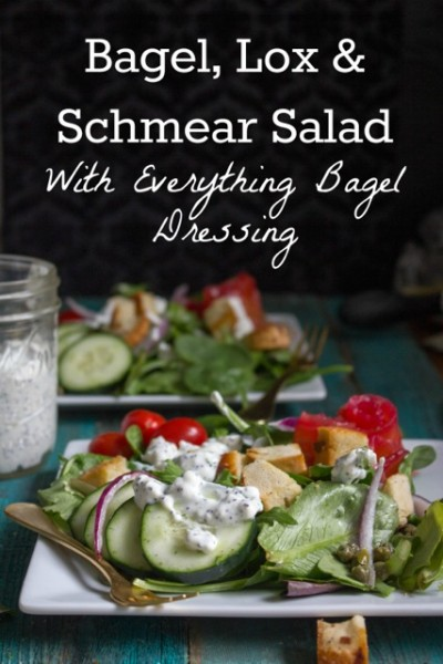 Bagel, Lox and Schmear Salad