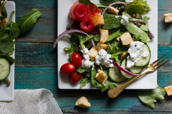 Bagel, Lox and Schmear Salad