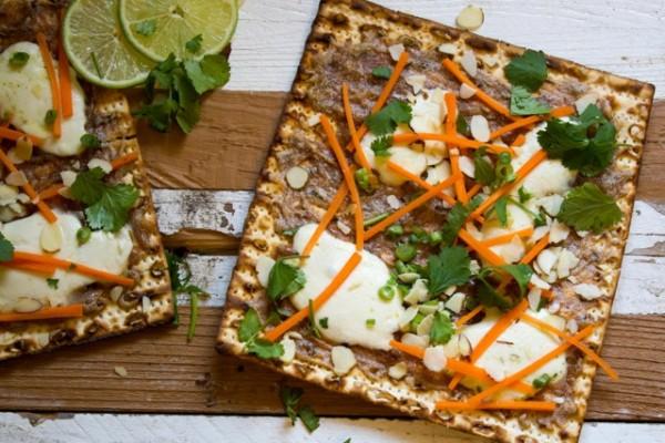 Thai Matzah Pizza