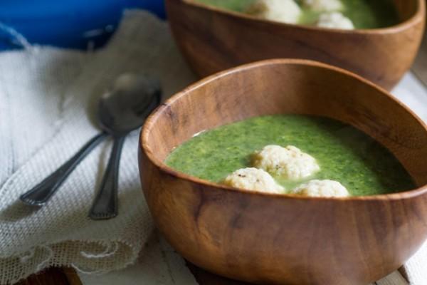 Power Greens Matzo Ball Soup