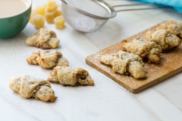 Candied Ginger, Almond and Cardamom Rugelach