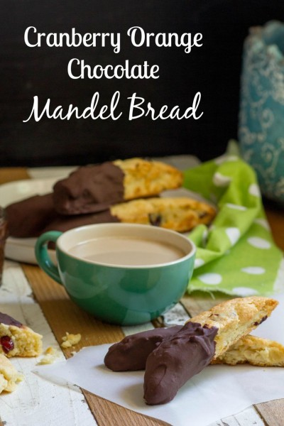 Cranberry Orange Chocolate Mandel Bread