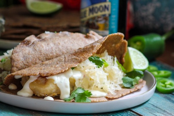 Beer Battered Reuben Fish Tacos