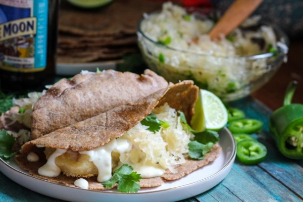 Beer Battered Reuben Fish Tacos