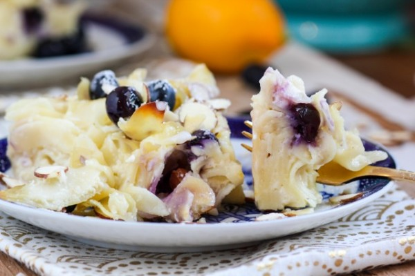 Blueberry Goat Cheese Kugel