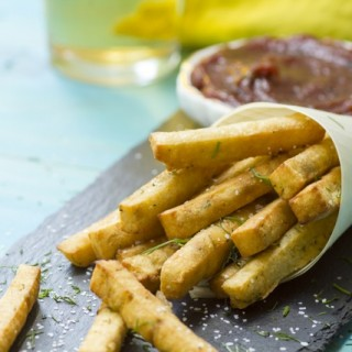 Chickpea Fries with Date Ketchup