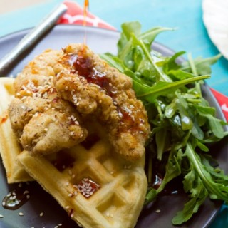 Middle Eastern Chicken & Waffles
