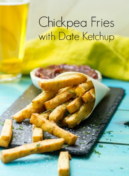 Chickpea Fries with Date Ketchup - What Jew Wanna Eat