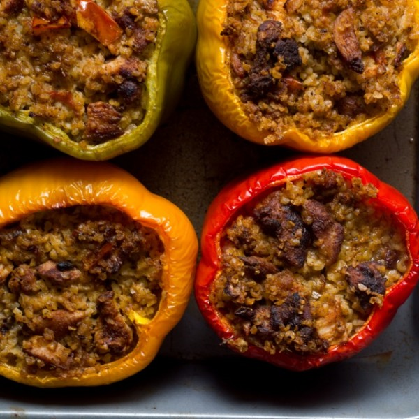 Shawarma Stuffed Peppers