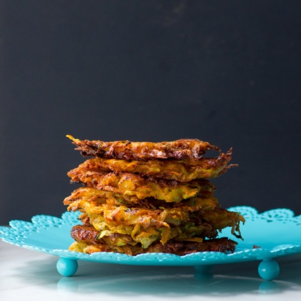 Cheesy, Sweet Potato, Zucchini and Squash Latkes