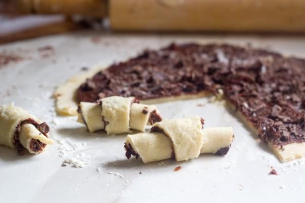 Chocolate Halvah Rugelach