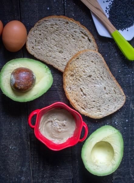Tahini Rosewater Avocado Toast