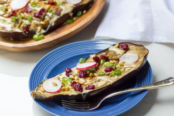 Roasted Eggplant with Silan Techina