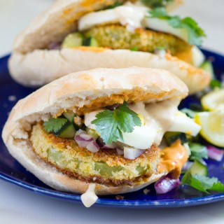 Fried Green Tomato Sabich