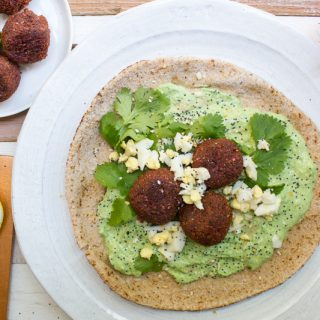 Beet Falafel with Mint Tzatziki