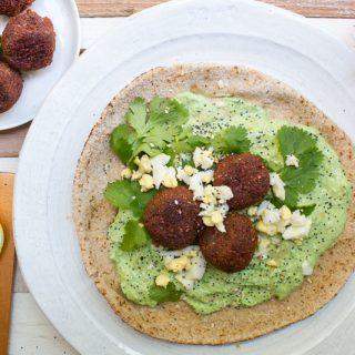 Beet Falafel with Mint Tzatziki