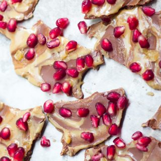 Pomegranate Tahini Bark