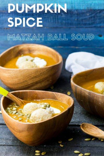 Pumpkin Spice Matzah Ball Soup
