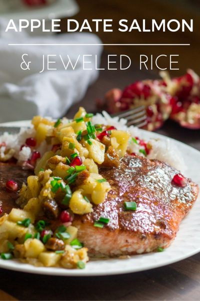 Salmon with Apple Fig Chutney and Jeweled Rice-10