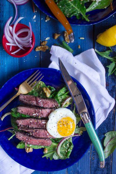 Sumac Steak Salad with Everything Bagel Vinaigrette