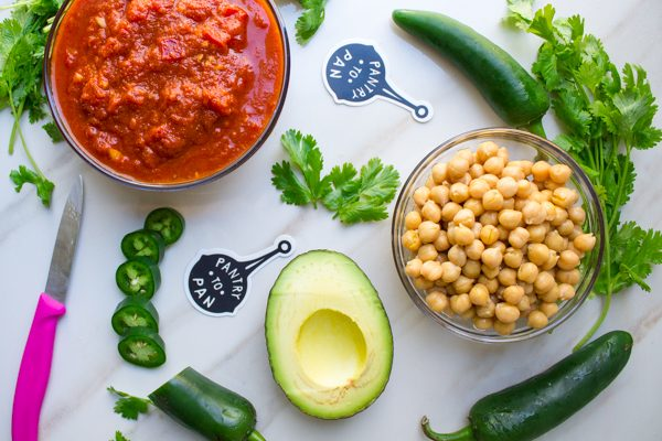 Charred Chickpeas and Pickled Jalapenos