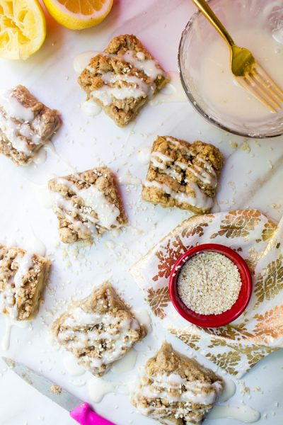 Apple Tahini Streusel Bars