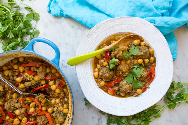 Meatball Tagine with Chickpeas