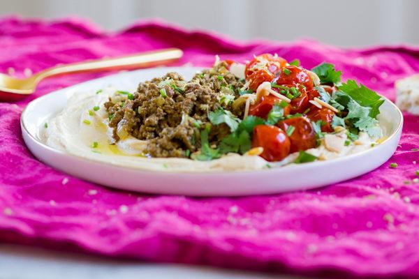 Hushwee Hummus with Charred Tomatoes