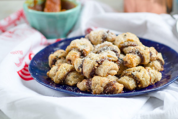 Chocolate Pumpkin Almond Rugelach